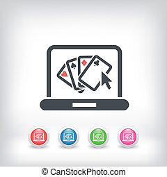 Poker website symbol icon