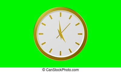 Golden Clock - 60 Seconds (green background)