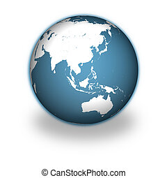 Planet Earth - Model of Earth isolated on white background...