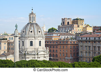 Panorama of the city of Rome, Italy