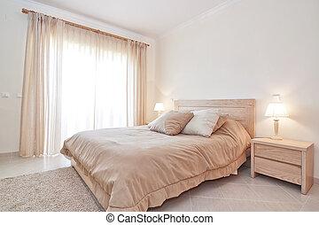 moderno, dormitorio, serie, para, familia