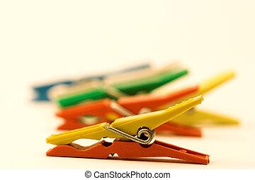clothes-peg - color clothes peg close up