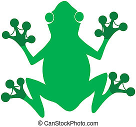 Green Frog Logo Cartoon Character