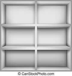 Bookcase - Vector illustration with  empty bookshelves