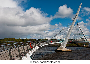 Peace Bridge - gorgeous Peace Bridge across the River Foyle...