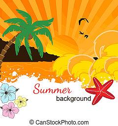 Summer background design