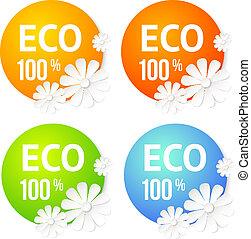 Eco banner of flower.