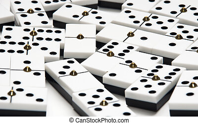 Domino game isolated on white background