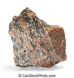stone red single granite boulder large river isolated big...