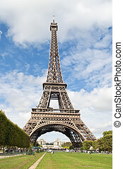 Eiffel Tower,Paris - Panoramic view of the Eiffel Tower in...