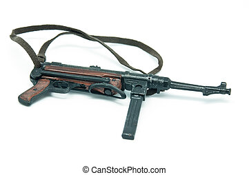 MP40 submachine gun on a white background, very popular...