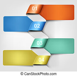 Info graphics banner with numbers. Vector illustration