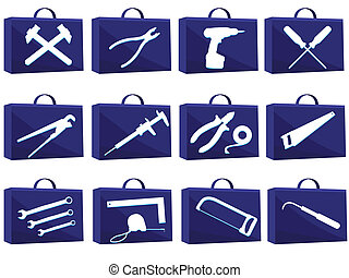 tools in a vector - Set icon for web with tools in a vector