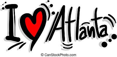 Love atlanta - Creative design of love atlanta