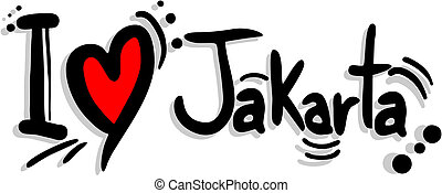 Love jakarta - Creative design of love jakarta