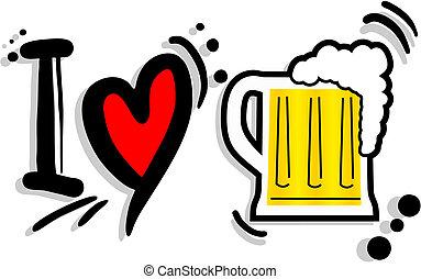 Love beer - Creative design of love beer