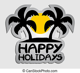 Happy holidays - Creative design of happy holidays