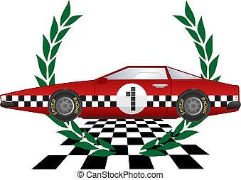 ganador, coche