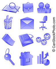office and business - Set of an icon, buttons - office and...