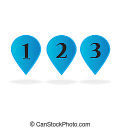 balloons numeric over white background vector illustration
