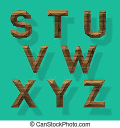 Wooden polygonal alphabet, part 3