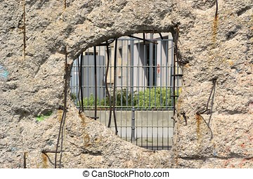 the Berlin Wall - a hole in the Berlin Wall