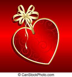 valentines, giorno, etichetta