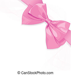 Pink bow  - Pink bow design with place for text