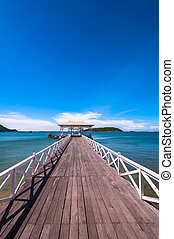 wooden walkway to the sea