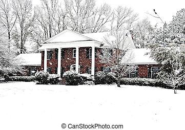 Executive Home - An executive brick home graced with a...