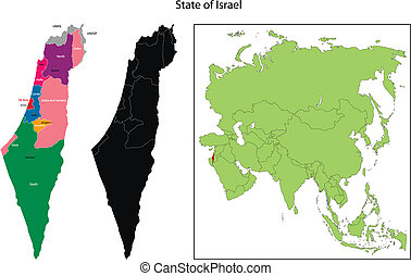 Israel map - Map of administrative divisions of Israel