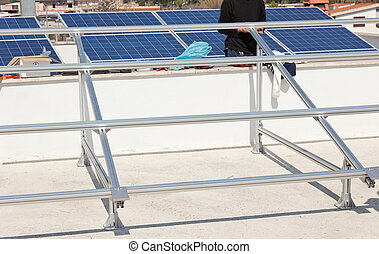 Support structure for solar panel.