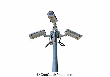 CCTV - Check the movement of the traffic cameras. isolated...