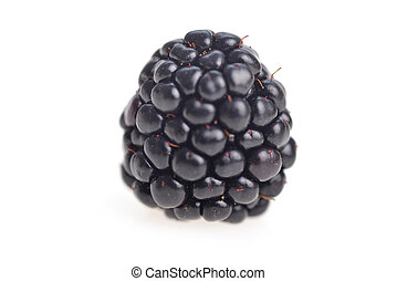 fresh blackberries - ripe fresh blackberries on white...