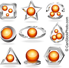 Vector business abstract icons set