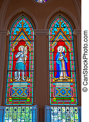 stained glass of the church