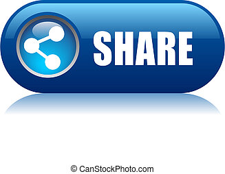 Vector share button isolated on white