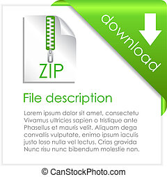 Zip archive icon - Zip archive download, vector icon
