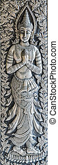 Silver engraving art background.