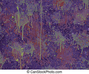Dripping Paint Abstract Background - Stock Photo - Wall with...