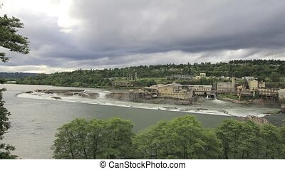 Timelapse of Willamette Falls 1080p