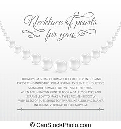 Perls on a white background Vector illustration, contains...
