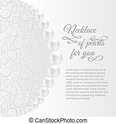 Perls on a white background. Vector illustration, contains...