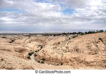 Jericho in judean desert - Landscape of jericho and judean...