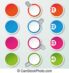 Four Options Paper Circles - Four options paper circle...