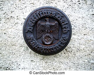 German Reich Seal - Seal of the German Reich on an old...