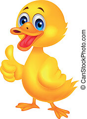 Duck cartoon thumb up - Vector illustration of Duck cartoon...