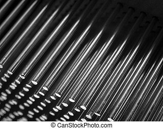 Rods - Rows of steel rods