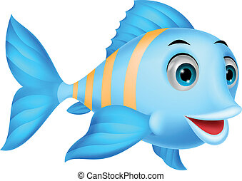 Cute fish cartoon - Vector illustration of Cute fish cartoon