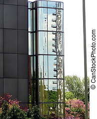 Reflections in Glass ~ 4 - Balconies galore - a reflection...